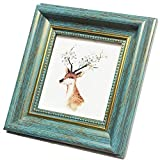 4x4 Photo Frame Blue Picture Frame Desktop Display Mount on The Wall.Plexiglass Panel (not Glass).Tips: Please Peel Off The Panel's Protective Film,Words on the Film Affect the Use.