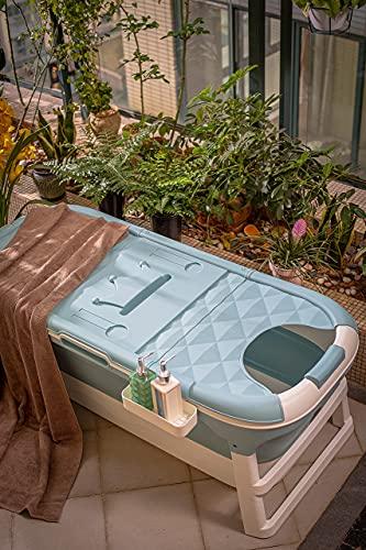 ThermaeStudio® - Vasca da bagno pieghevole per adulti e bambini – Vasca da bagno | Portatile | Verde menta (130cm)