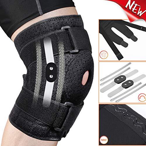 Obling Knieorthese einstellbar für Männer Frauen, offener Patella-Stabilisator Kniestütze für Knie Arthritisches Gelenk Schmerzlinderung Sportlaufschutz, Laufkniestütze