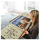 HZW Jigsaw Puzzle case Puzzle Board, 1000/1500 Piece Puzzle Caddy Portable Puzzle Storage Case, Best Gift for Puzzle Lovers and Adult Children,1000 pc 31.8x21.7 inch