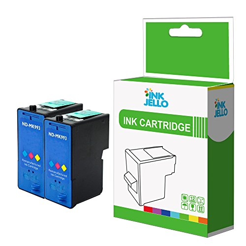 InkJello Remanufactured Ink Cartridge Replacement for Dell All In One 926 V305 V305W MK993 (Colour, 2-Pack)