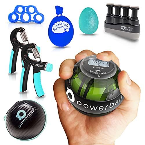 Powerball Gama NSD Autostart – Mano, agarre, muñeca y antebrazo rehabilitación y fortalecimiento giroscopios (Pro Strength Pack)