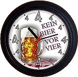 Lucky Clocks BIERUHREN KEIN BIER VOR VIER 4 MASS Maß GEBURTSTAG VATERTAG Wanduhren für jeden...