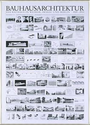 ポスター バウハウス Bauhaus Architektur 額装品 アルミ製ベーシックフレーム(ライトブロンズ)