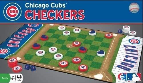 MasterPieces Obras maestras MLB Damas Junta Juego   MASBBCHICCH, Puzzle Co MLB Chicago Cubs Tablero, Gris