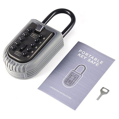 lyrlody Caja de Seguridad, Caja Fuerte portátil para Todos para el hogar al Aire Libre
