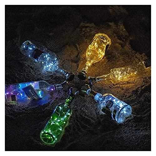Luces De DecoracióN De JardíN Luces de botella con corcho, luces de botellas, 2m 20 leds Cable de cobre Colorido Guirnalda de hadas luces de cadena, lámpara de decoración de arte de fiesta de boda de