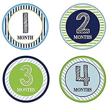 30 Pack Baby Monthly Milestone Stickers Baby Milestone Stickers for Girls Boys Newborn Monthly Stickers Infant Monthly Milestone Stickers  Set 1