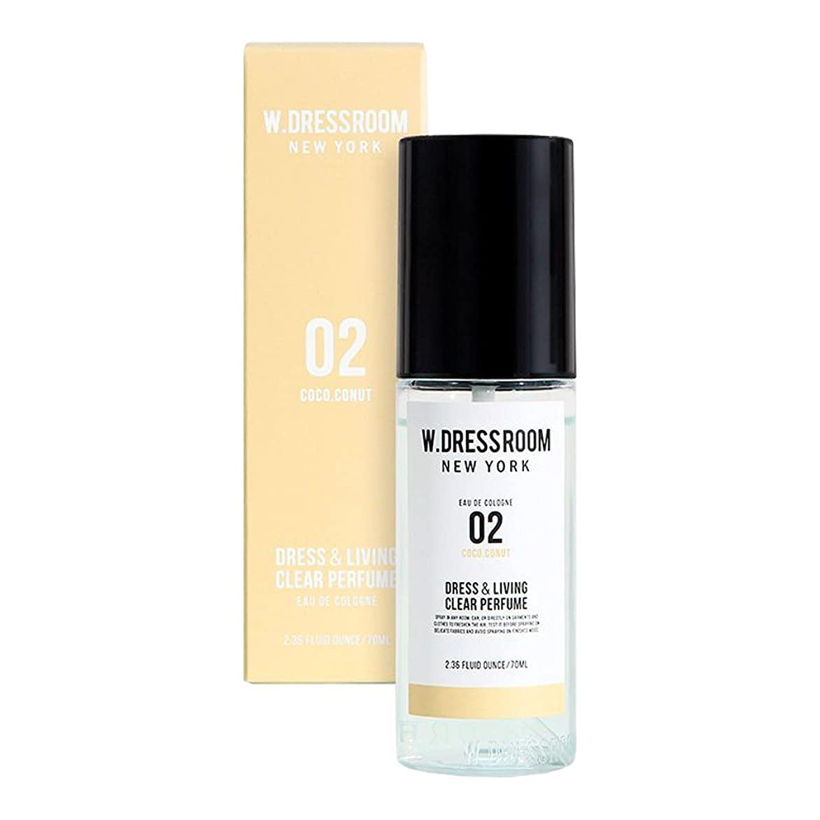 小切手参照する高原W.DRESSROOM Dress & Living Clear Perfume fragrance 70ml (#No.02 Coco Conut) /ダブルドレスルーム ドレス&リビング クリア パフューム 70ml (#No.02 Coco Conut)