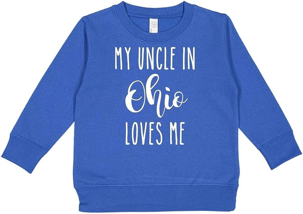 Toddler//Kids Sweatshirt My Uncle in Ohio Loves Me
