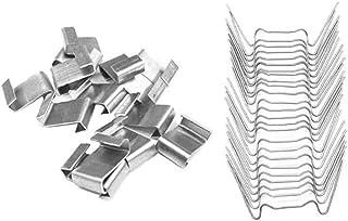 Yililay Broeikas beglazing clips glas bevestiging roestvrij staal overlap Z clips W type clips 100 stuks