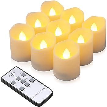 1x LED Kerze Glücksklee aus Wachs mit 6h Timer funktion Tisch Deko