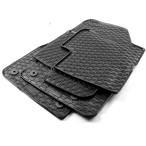 All4You Gummimatten Original Qualität Fußmatten 100{cd7ce3e3def2bd11189e3e81e3bef33aba86ef725286a517ff2ecbfcb3a14a73} passgenau Schwarz Gummi 4-teilig fahrzeugspezifisch