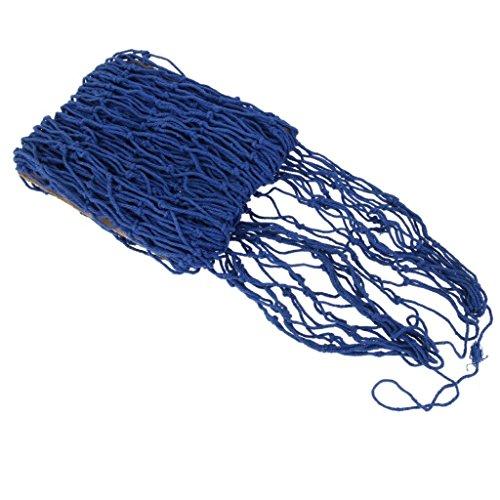 PIXNOR Dekorativer Wandbehang Fische Net, Dekonetz Netz (blau)