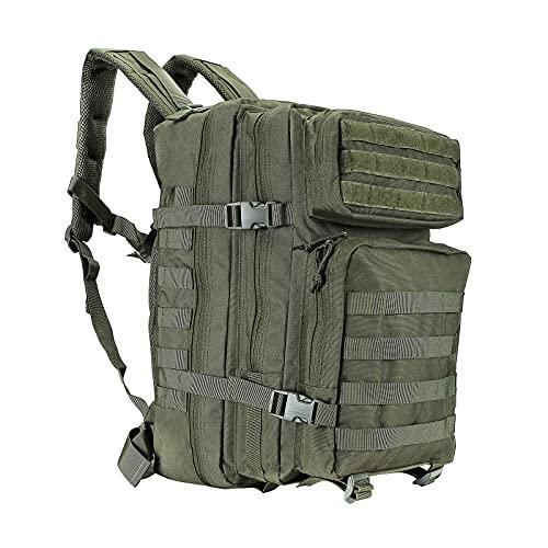 Oreunik Zaino Militare 45L, Zaino Tattico Impermeabile, Zaini Molle Grande Zaino d'Assalto per Trekking, Campeggio, Escursionismo (Verde)
