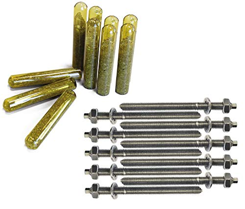 PARCO Verbundanker Patrone M10x130 + Ankerstange M10 Edelstahl A4, Mit ETA Zulassung, 10 Stück