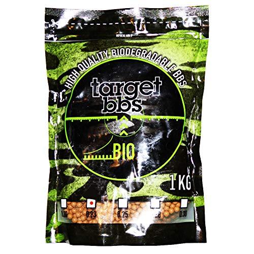 Target Billes Airsoft biodégradable Marron 0,23 grammes (4350 granulés), Paquet de 1 Kilogramme