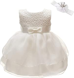 Christening Baptism Flower Dress for Baby Girl Princess Formal Prom Tutu Ball Gown Party Wedding Birthday Dress