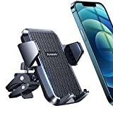 3rd Generation Car Phone Holder [Made for Big Phones & Thick Cases] ANWAS Upgraded Hook Vent Clip, Reinforced Holding Structure, Ultra Sturdy Phone Mount Compatible with 4-7 inch Smartphones