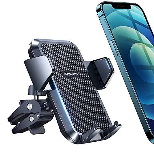 """[Ultra Sturdy Screw-Locking] Anwas Car Phone Holder Cell Phone Mount for Car Air Vent [Big Phone and Thick Cases Friendly] Cell Phone car Cradles Fit for All 4.0"""" - 7.0"""" Phones"""