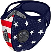 Reusable Respirators,Unisex Adjustable Earloop Face Coverings for Allergies Woodworking,Cycling, Running (AB, As Picture Shown)