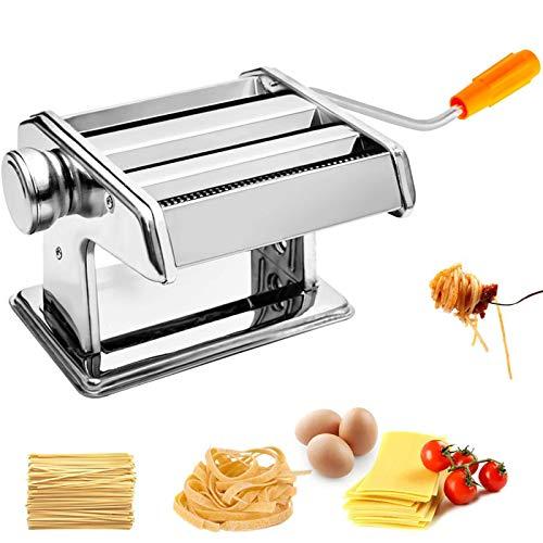Pasta Maker Machine Stainless Steel Hand Crank Manual Pasta Roller Cutter Noodle Maker