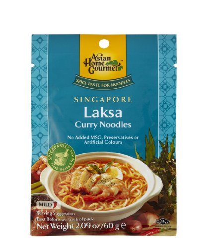 ASIAN HOME GOURMET Spice Paste for Singaporean Laksa Curry Noodles 1.75 Ounce (Pack of 3)
