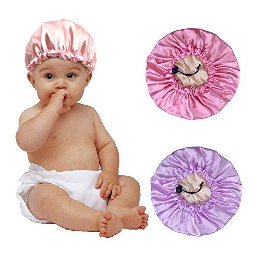 3 Pieces Kids Satin Bonnet Night Sleep Caps,...