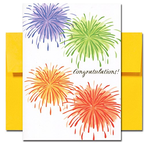 Congratulations Cards: Light Up the Sky - box of 10 cards & env Made in USA by CroninCards