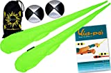 Flames N Games Pro Socken-Poi (UV Grun) Set + Kid Poi DVD (in Deutsch) Sock Poi (inkl. 2x Beanbags...