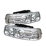 Spyder Auto 5009609 LED Halo Projector Headlights Chrome/Clear