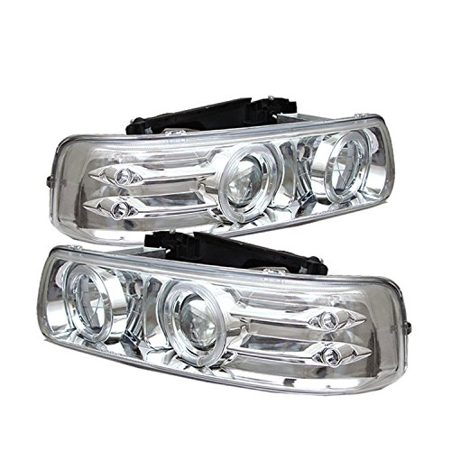 Spyder Auto 5009609 LED Halo Projector Headlights Chrome/Clear