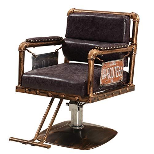 MOye Sillón Vintage Profesional de Peluquería Barbero Tattoo, 360º Giratoria, Sillón Ajustable A