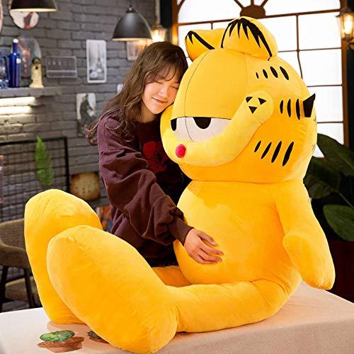 Generic Plüschtier Garfield kreative Kissenpuppe Stoffpuppe, gelb, Höhe 60 cm