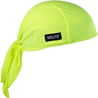 Ergodyne Chill Its 6615 Dew Rag, Lined with Terry Cloth Sweatband, Sweat Wicking, Lime