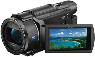سوني كاميرا الفيديو فلاش ميموري, 4K وضوح 20x زووم بصري, 3 انش بوصة الشاشة, اسود - FDR-AX53