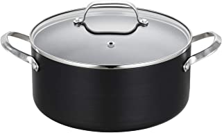 EPPMO 5 Qt Hard-Anodized Nonstick Stockpot with lid, Aluminum Pot, Dishwasher & Oven Safe