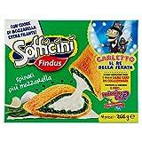 Findus Sofficini Spinaci Più Mozzarella, Confezione da 4, 266g (Surgelato)