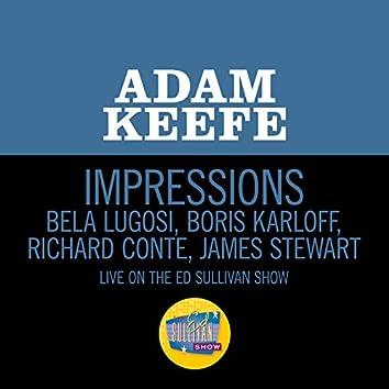 Impressions - Bela Lugosi, Boris Karloff, Richard Conte, James Stewart (Live On The Ed Sullivan Show, April 9, 1961)