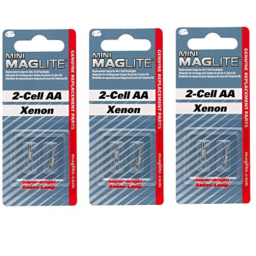 Replacement Bulb for Mini Mag-Lite, 3 Pack