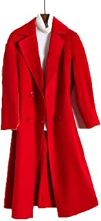 Women's lapel Windbreaker slim double-faced coat Woolen coat female wavy double-faced coat double-breasted wool coat female Simple Warm