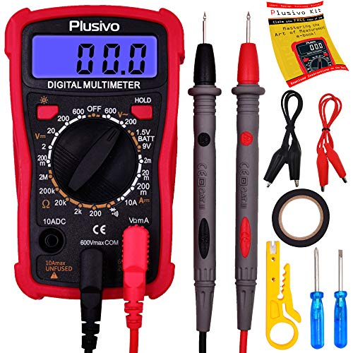 Digital Multimeter, Volt Amp Ohm Multi Tester, AC DC Voltage, Resistance, DC Current Test...
