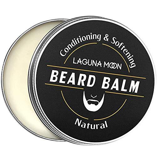 Balsamo da barba per uomo Lagunamoon, balsamo per barba per la crescita della barba e crema idratante - Trattamento tutto naturale con olio di jojoba e burro di karité