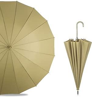 Household Long Handle Umbrella Large Size Rain and Rain Umbrella Creative Straight Umbrella 5 Colors Optional Huhero (Color : Green)