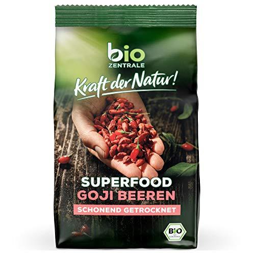 biozentrale Superfood Goji Beeren getrocknet | 150g Wolfsbeere Bio | Goji Beeren ungezuckert | Ideal Ergänzung zum Müsli & Dessert