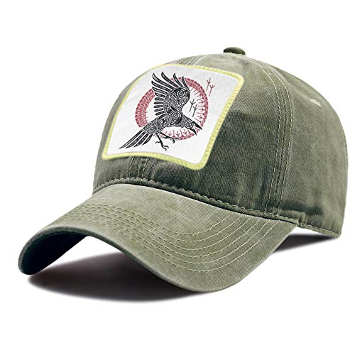 Fanxp Gorras Verano al Aire Libre Snapback Hat Viking Eagle Vintage Impresión Gorras de béisbol Ajustable Sport Riding Sombreros Algodón Unisex Gorra de béisbol