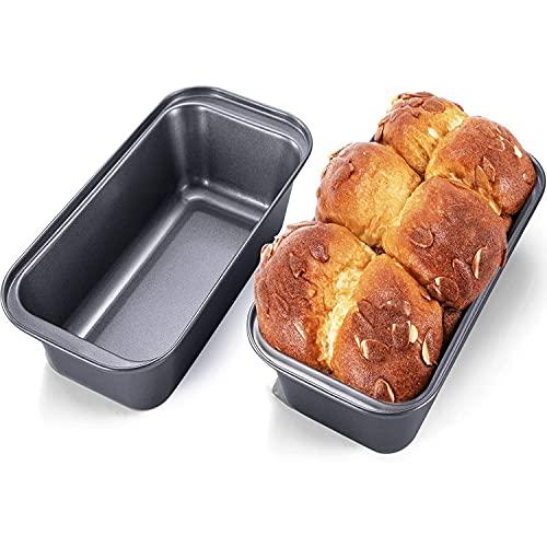 Loaf Tin Non Stick Carbon Steel (Set of 2) Bread Pans 2 LB Premium Quality...