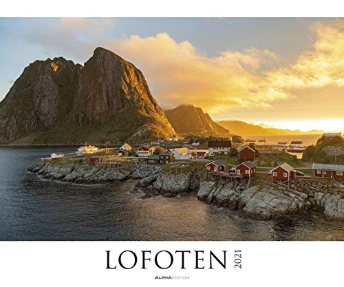 Lofoten 2021 - Bild-Kalender XXL 60x50 cm - Norwegen - Landschaftskalender - Natur-Kalender - Wand-Kalender - Alpha Edition