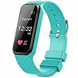 Fitness Tracker with Heart Rate Monitor Color Screen Smart Slim Wristband Pedometer Smart Bracelet Sleep Monitor, Waterproof Activity Tracker Amart Watch for Android & iOS (Green)