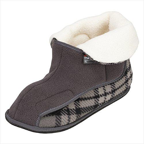 徳武産業 あゆみ 介護靴 2245ワイドボアオープン グレーLL 25.0-26.0cm 左足 室内用